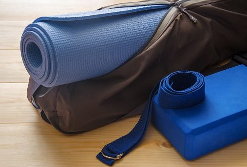 Bag with mat and accessories for yoga,pilates and fintess